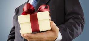 5 pravil poslovnega obdarovanja